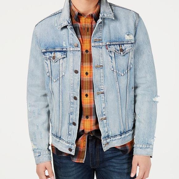 Levi's Distressed Denim Trucker Jacket